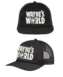 WAYNE'S WORLD TRUCKER HAT ~  MESH CAP ~ FUNNY HALLOWEEN COSTUME 90s garth