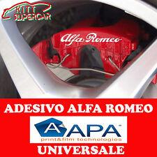 KIT 4 ADESIVI sticker PER PINZE FRENO ALFA ROMEO 147 159 GIULIA + OMAGGIO