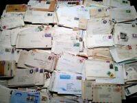 Fun Lot (100) Vintage Envelopes Cancelled Stamps FD Covers Old Bills 1900-1970's
