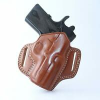 Leather Pancake Holster Open Top for Springfield Hellcat 9mm 3'' BBL R/H #1524#