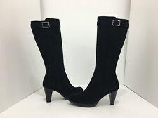 La Canadienne Mala Black Suede Women's Knee High Heel Waterproof Boots Size 5 M