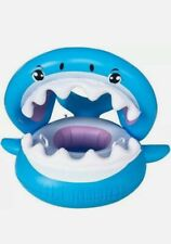 Baby Float Swimming Pool Seat Kiddie Floaties With Inflatable Canopy Shark