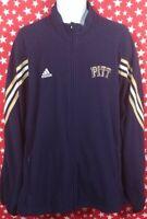 Adidas Mens University Of Pittsburgh Panthers Fleece Jacket PITT 2XL Blue