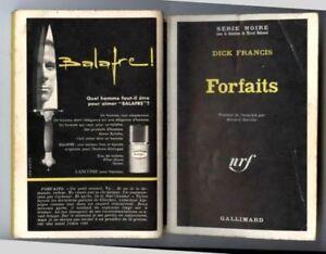 DICK FRANCIS: SERIE NOIRE N°1285. Gallimard 1969.