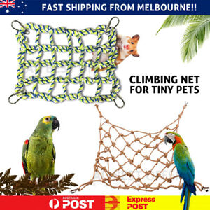 Pet Bird Parrot Hanging Hammock Ladder Toy Swing Hamster Rope Cage Perch Net AU