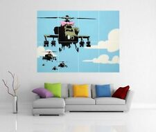 BANKSY 'HELICOPTER CHOPPER' GIANT WALL ART PICTURE PRINT POSTER G127