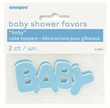 Blue Baby Shower Cake Toppers 2pcs    .13597