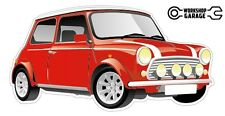 Mini Vintage Cooper Collectible Sticker - Red