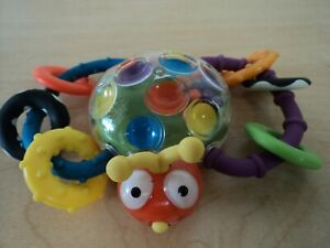 Sassy Vintage Baby Grasping Teething Rattle Toy Bug Butterfly Unisex Cute!