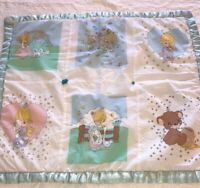 Precious Moments Handmade Baby Quilt/ Blanket - Guardian Angel - Flawed