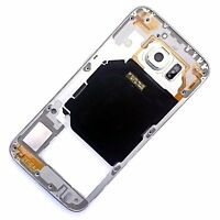 100% Genuine Samsung Galaxy S6 rear side housing+camera glass+buttons White G920