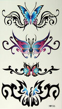 King Horse Low Back Butterflies Temporary Tattoos HM156 New Arrival!!
