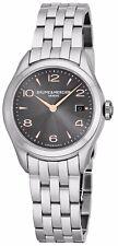 Baume Mercier Women's Clifton Charcoal Dial Stainless Steel Quartz Watch A10209