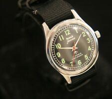 Men's 1970's restored serviced HMT Jawan 17 jewel military parashock wristwatch