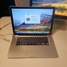 "Apple MacBook Pro 15"" Core i7 2.8Ghz 8GB 500gb HD (Mac iOS high sierra 2017)"