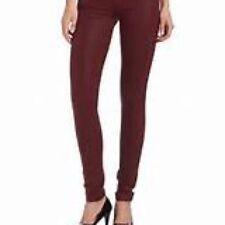JUICY COUTURE Dark Crimson Pigment Coated Skinny Jeans Sz.24 NWT Ret.$178