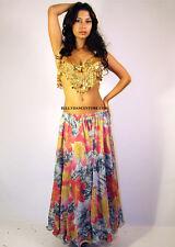 Professional Bellydance Chiffon Skirt Belly Dance Bellydancing Floral Skirt