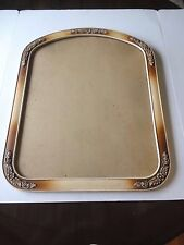 Frame, Oval Carved Floral Applique Trim Wood Glass Picture/Mirror  Frame