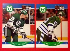 '90/91 Hartford Whalers Dave Tippett Grant Jennings New England NHL Hockey Cards
