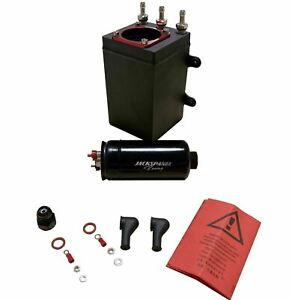 Billet Aluminum External Fuel Pump Surge Tank For AEM Bosch 044 380LPH 1L E85 US