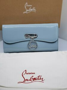 Christian Louboutin Riviera Clutch Horizon Patent Leather Chain Shoulder Bag-NEW