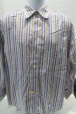Robert Graham LS Button Front Shirt Stripes Flip Cuffs Size Medium (M)