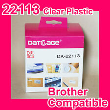 8 Rolls of Compatible Brother DK-22113 Clear Continuous Film Roll