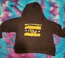 CM Punk Best In The World 2XL full Zipper Hoodie Sweatshirt WWE Authentic