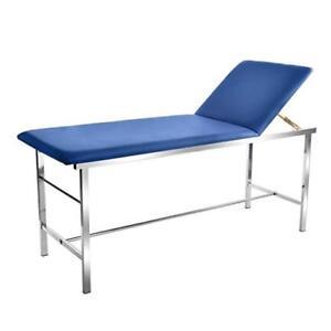 AdirMed Blue Foam Padded Adjustable Medical Exam Table W/ Paper Towel Holder