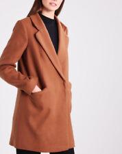 Cappotti e giacche da donna bottone automatici marrone , Taglia 46