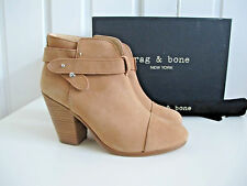 NIB $525 Rag & Bone Harrow Ankle Boots Tan Brown Nubuck sz 37.5 7.5 Suede