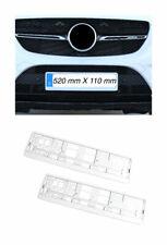 2x Premium Supporto Numero Targa Altamente Lucido Bianco Made in Eu