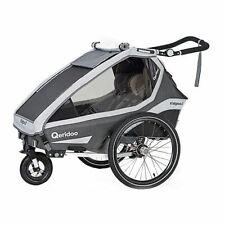Qeridoo Kidgoo2 Grey 2020 Two-Seater Bike Child Trailer Bicycle Trailer