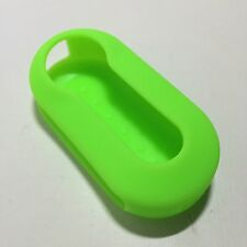 Fiat 500 Panda Bravo Stilo Punto Silicone 3 Button Car Key Cover Case Fob Green