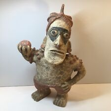 Reproduction of Ancient Western Mexico Indian Clay Man With Ball Sporting Figure