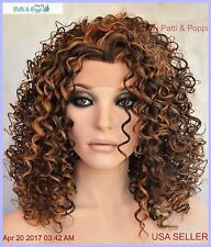 LACE FRONT JERRY CURLS WIG COLOR P4.27.30  SASSY SEXY HOT STYLE USA SELLER