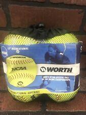 "WORTH 12"" Official League Recreational Softball Set of 4"