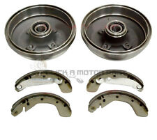 VAUXHALL CORSA C 00-05 REAR BRAKE DRUMS & SHOES + 2 WHEEL BEARINGS FITTED NO ABS
