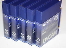 3x Used Sony DVCAM miniDV tapes PDVM-40N 40 min. Lot of 3 Digital Cassette Tapes
