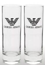 2 X GEORGIO ARMANI TALL GLASSES