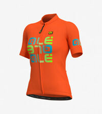 Ale Cycling Women Short Sleeve Jersey Solid Mirror|Orange-Size S|BRAND NEW