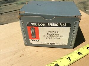 3/32X3/8 SLOTTED SPRING PIN STEEL