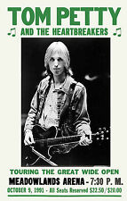 Tom Petty & Heartbreakers at New Jersey Concert Poster 1991  12x18