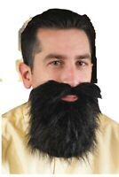 Adult Mens Black Facial Hair Beard And Moustache Mustache Costume Accessory