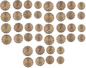 Paraguay - 5 pcs x set 4 coins 10 15 25 50 Centimos 1953 aUNC / UNC Lemberg-Zp