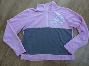 VICTORIAS SECRET PINK ladies pink sweatshirt jumper MEDIUM AUTHENTIC
