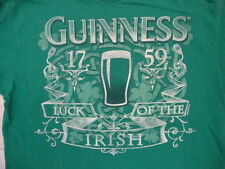 Guinness Est. 1759 Luck of the Irish Lager Beer St. Patrick's Day T Shirt L