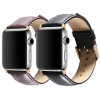 Calf Leather Watch Band Wrist Strap For Apple Watch iWatch Series 3/2/1 38/42mm