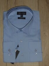 PROMO ♥ chemise homme MARCO BELLI bleu taille XL / 43-44 slim fit 70% coton neuf