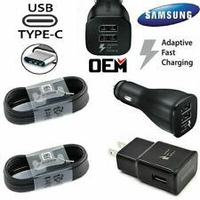 Original Samsung Galaxy S10 S8 S9 Plus Note 8 Fast OEM Wall Charger Type-C Cable